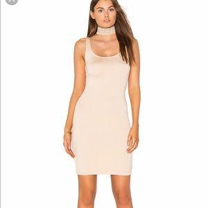 Blq tan mini dress.
